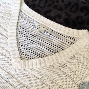 Banana Republic V-neck Sweater with Cut-out Design